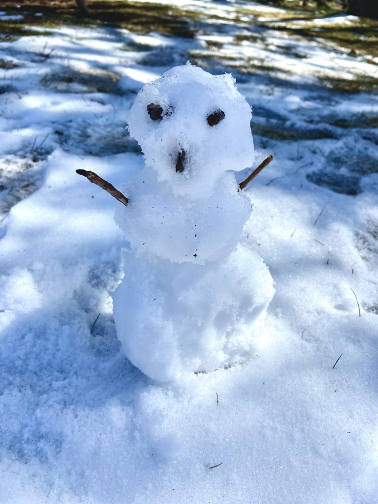 Snowman in April